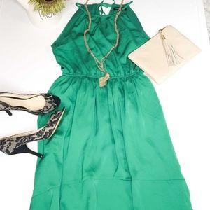 🔥2xHost Pick🔥Banana Republic green halter dress